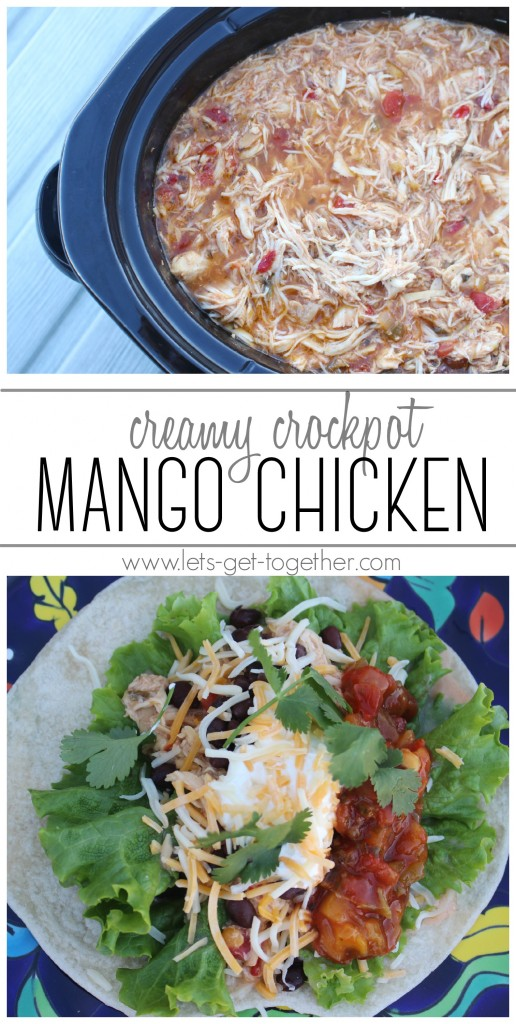 Creamy Crockpot Mango Chicken