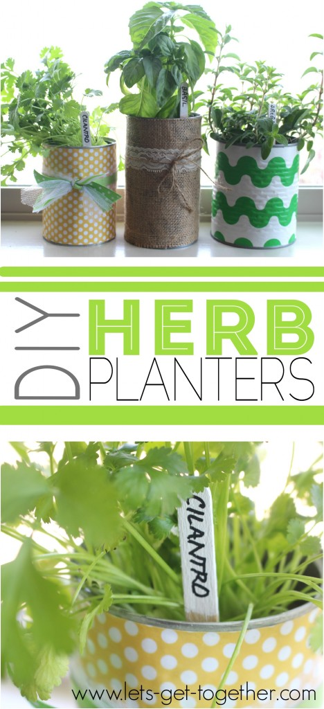 DIY Herb Planters from Let's Get Together