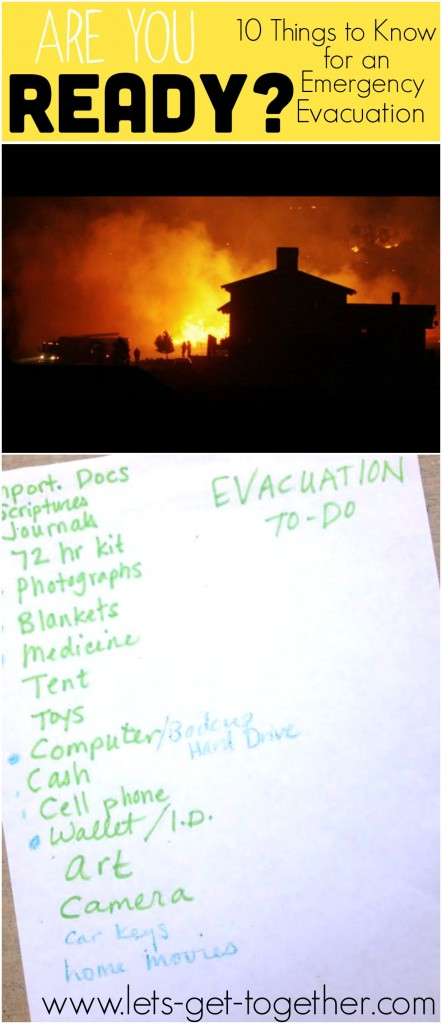 10 Things to Know for an Emergency Evacuation from a Family Who Lived It