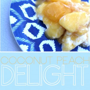 Layered Peach Coconut Delight