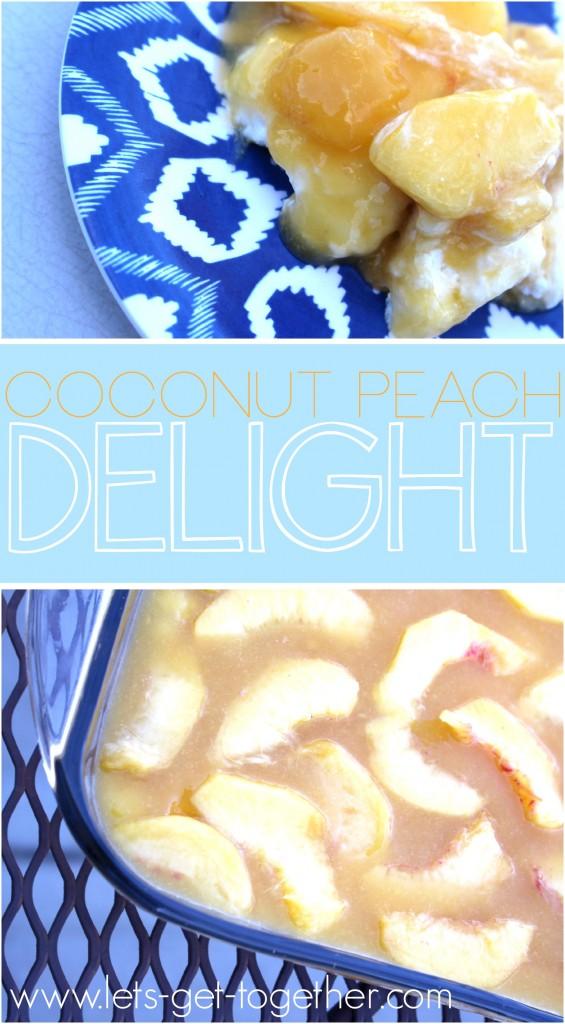 Layered Coconut Peach Delight